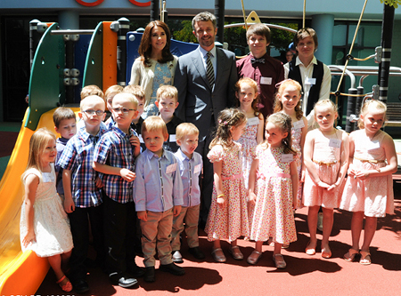 ATR twins meet the Danish royal couple in Sydney.